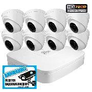 Комплект HD видеонаблюдения на 8 купольных видеокамер