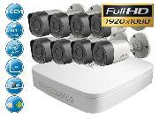 Уличный комплект FULL HD видеонаблюдения на 8 камер для дома
